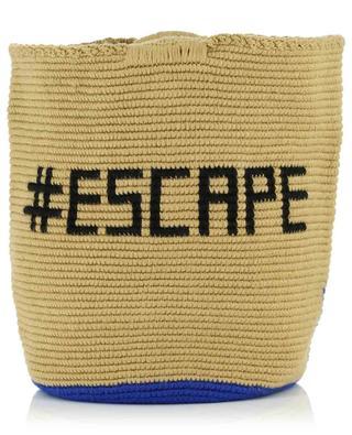 Escape crocheted handbag with bamboo handles SORAYA HENNESSY