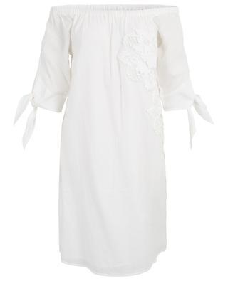 Schulterfreies Kleid mit Spitze Puri HEMISPHERE