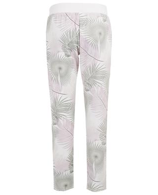 Palm print adorned  jogging trousers HEMISPHERE