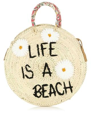 Medium Life Is A Beach wicker handbag MANA SAINT TROPEZ