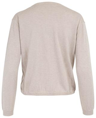 Short cotton, cashmere and Lurex cardigan HEMISPHERE
