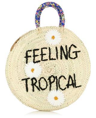 Medium Feeling Tropical wicker handbag MANA SAINT TROPEZ