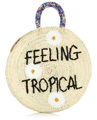 Medium Feeling Tropical wicker handbag MANA SAINT TROPEZ