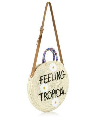 Sac à main en osier Medium Feeling Tropical MANA SAINT TROPEZ