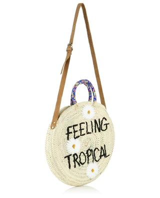 Sac à main en osier Medium Feeling Tropical MANA SAINT TROPEZ