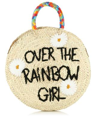 Handtasche aus Kordweide Medium Over The Rainbow Girl MANA SAINT TROPEZ