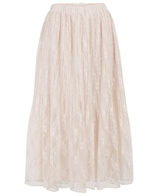 Crecil pleated lace midi skirt HEMISPHERE