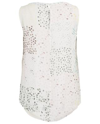 Rangi sleeveless printed silk top HEMISPHERE