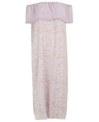 Schulterfreies Kleid mit Rüsche Rutalong HEMISPHERE