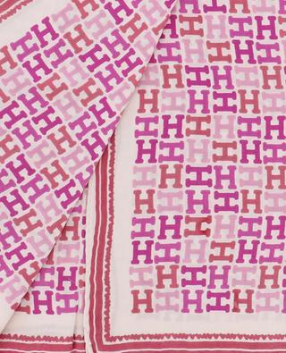 Carré de soie motif H Alikinicky HEMISPHERE