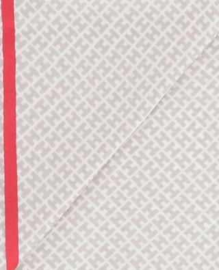 Seidentuch mit H-Motiv und Rahmen Radestrnicky HEMISPHERE