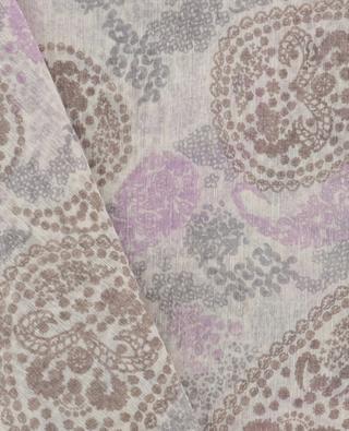 Raisley printed woven scarf HEMISPHERE