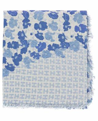Rix lightweight floral and H pattern scarf HEMISPHERE