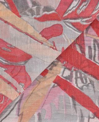 Écharpe légère imprimée feuille Rummer HEMISPHERE
