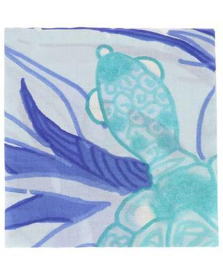 Rurtle turtle print lightweight scarf HEMISPHERE