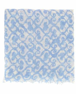 Ruseum arabesque pattern scarf HEMISPHERE
