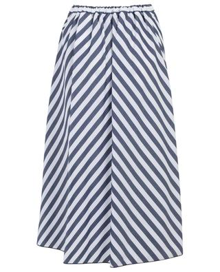 Striped pleated poplin skirt PIAZZA SEMPIONE