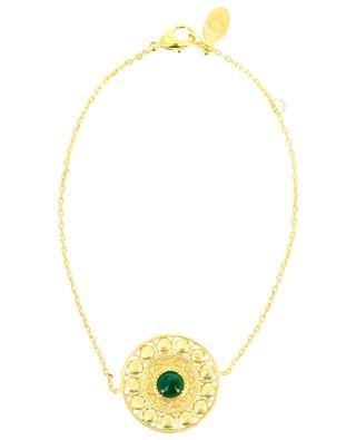 Bracelet plaqué or et agate Cassandre COLLECTION CONSTANCE