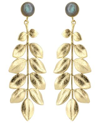 Athena gold-plated earrings with labradorite COLLECTION CONSTANCE