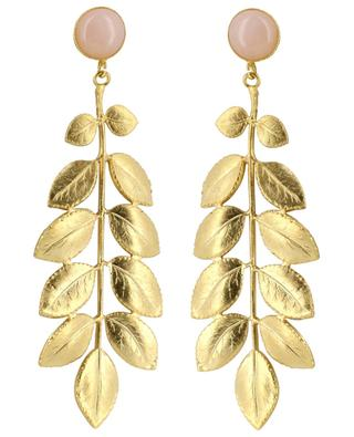 Athena gold-plated earrings with pink quartz COLLECTION CONSTANCE