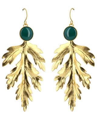 Ares gold-plated earrings with agate COLLECTION CONSTANCE