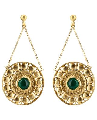 Cassandre gold-plated earrings with agate COLLECTION CONSTANCE
