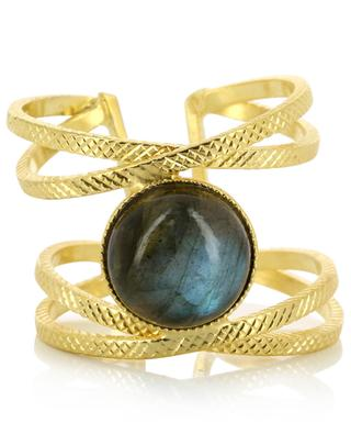 Iris gold-plated ring with labradorite COLLECTION CONSTANCE