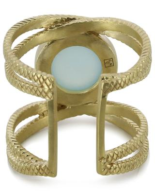 Vergoldeter Ring mit blauem Quarz Iris COLLECTION CONSTANCE