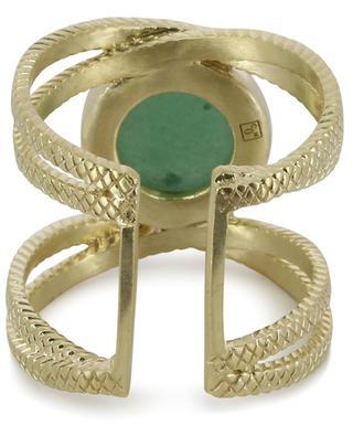 Vergoldeter Ring mit Aventurin Iris COLLECTION CONSTANCE