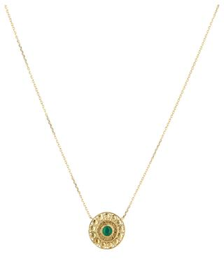 Cassandre gold-plated necklace with agate COLLECTION CONSTANCE