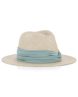 Silk detail straw hat FABIANA FILIPPI