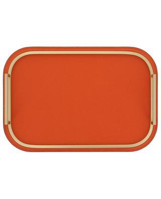 Kleines Tablett aus Leder und Metall Bellini GIOBAGNARA