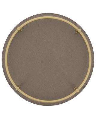 Rundes Tablett aus Leder und Metall Rondo' GIOBAGNARA