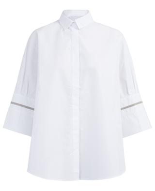 Besticktes Cape-Hemd aus Baumwolle FABIANA FILIPPI