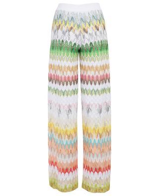 Pantalon large imprimé en viscose et coton mélangés MISSONI