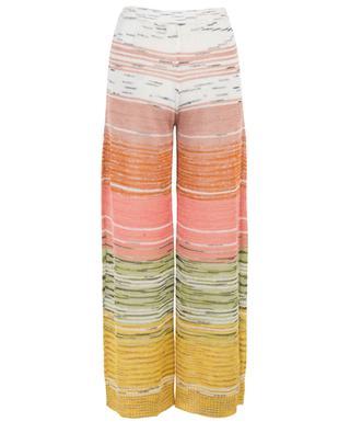 Linen, viscose and cashmere blend wide leg trousers MISSONI