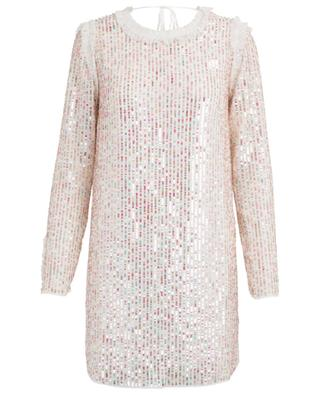Shimmer sequined backless mini dress NEEDLE &THREAD