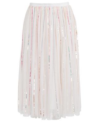 Shimmer Midaxi sequined tulle midi skirt NEEDLE &THREAD