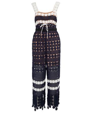 Combinaison pantalon en crochet Flower Stripe SELF PORTRAIT