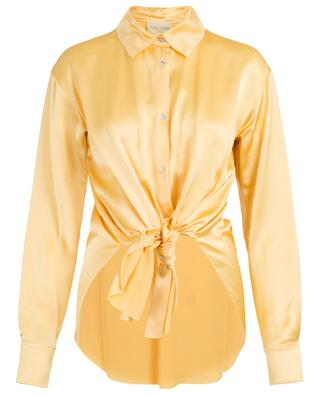Satin shirt with front bow FORTE FORTE