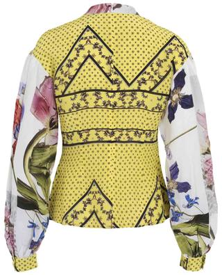 Silk blend blouse with puffed sleeves GANNI