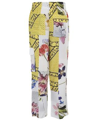 Floral printed light-weight silk blend trousers GANNI