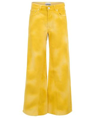 Jean large jaune minion effet vieilli GANNI