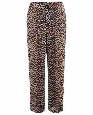 Pantalon large imprimé léopard Mullin GANNI