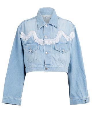 Sheldon fringe adorned jeans jacket GANNI