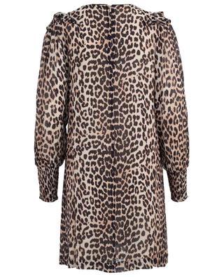 Mullin short leopard print dress GANNI