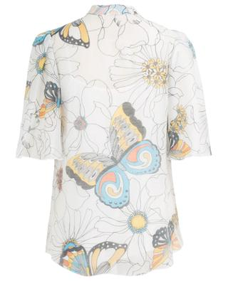 Butterlfies and Flowers cape sleeve organza blouse SEE BY CHLOE