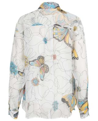 Flowers and Butterflies organza oversize shirt SEE BY CHLOE