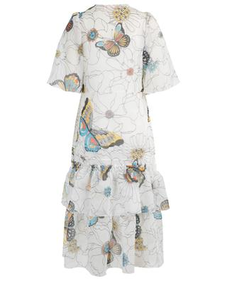 Robe midi en organza à volants Flowers and Butterflies SEE BY CHLOE
