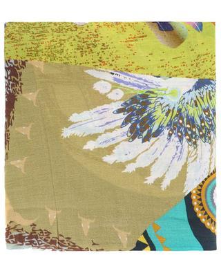 Foulard en coton mélangé imprimé Borée STORIATIPIC